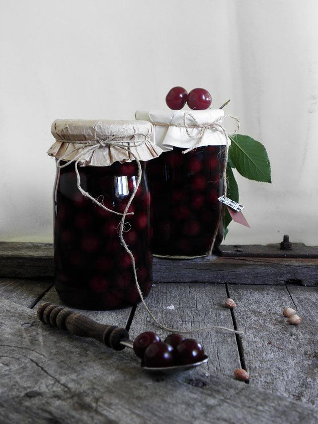 sour cherries preservation