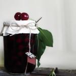 pop-top jar of sour cherries